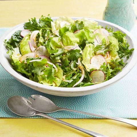 spring salad with aunt trishs dressing