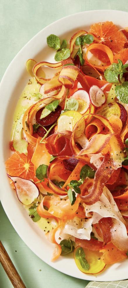 spring salads - carrot and radish salad