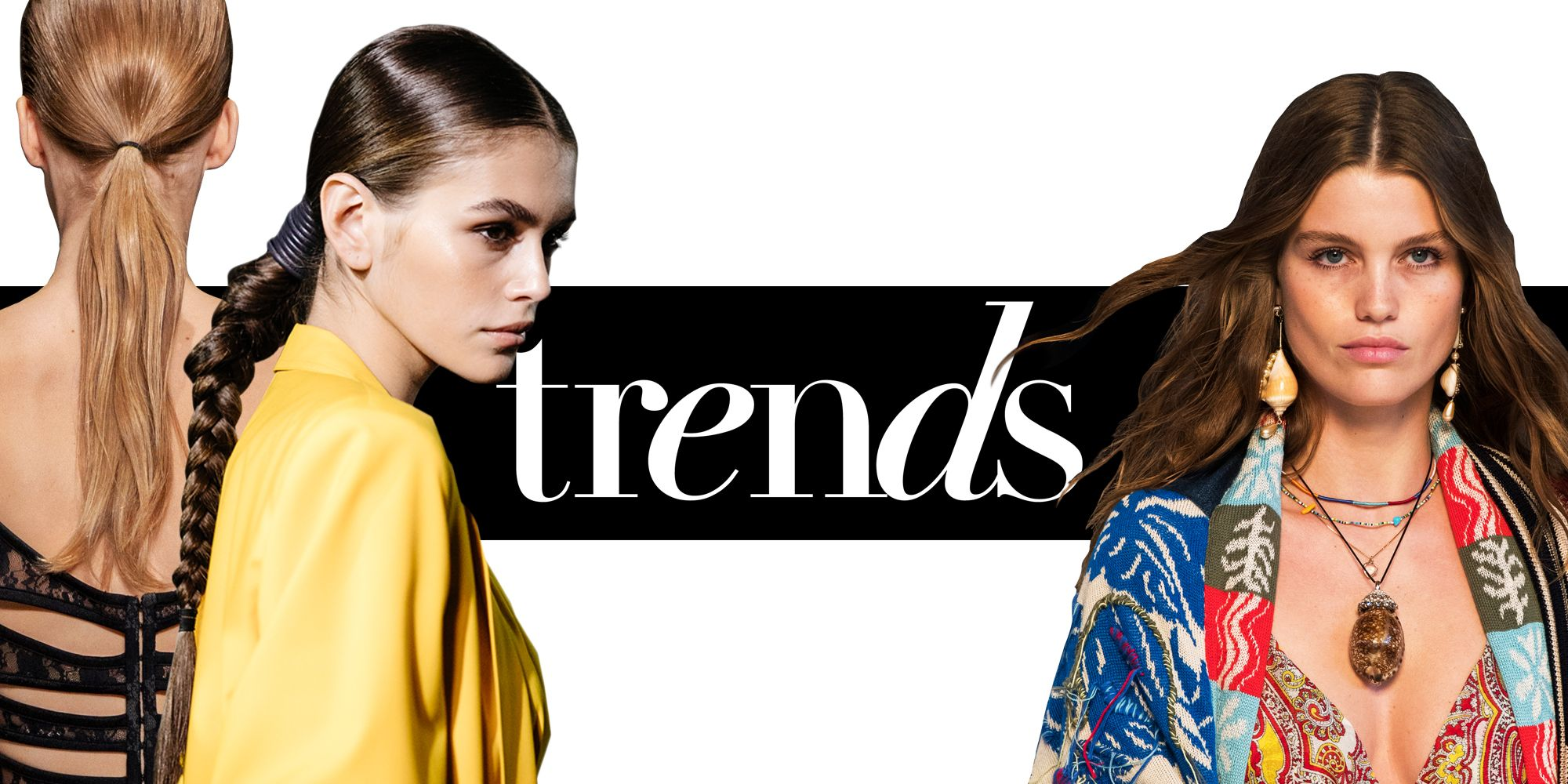 Spring/summer 2019 hair trends , SS19 hairstyle trends, catwalk hair trends