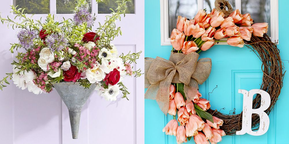 Beautiful Spring Wreath Grapevive Wreath With Pretty Pink Flowers, Garden Rose Wreath Summer Door Decor