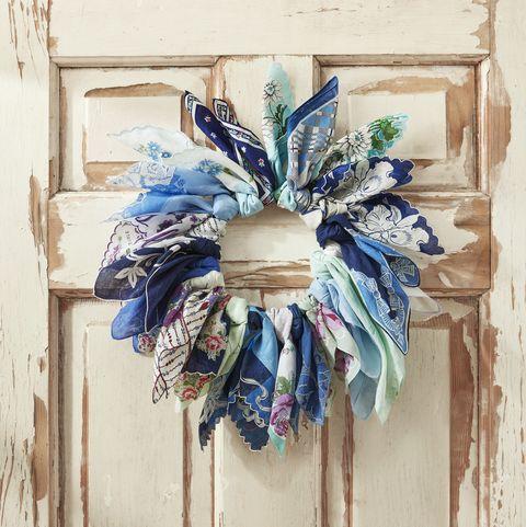 handkerchief spring wreath