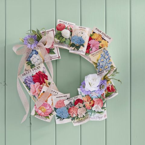 Spring Wreath - Seed Packet Wreath
