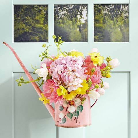 Spring Wreath - Watering Can Wreath