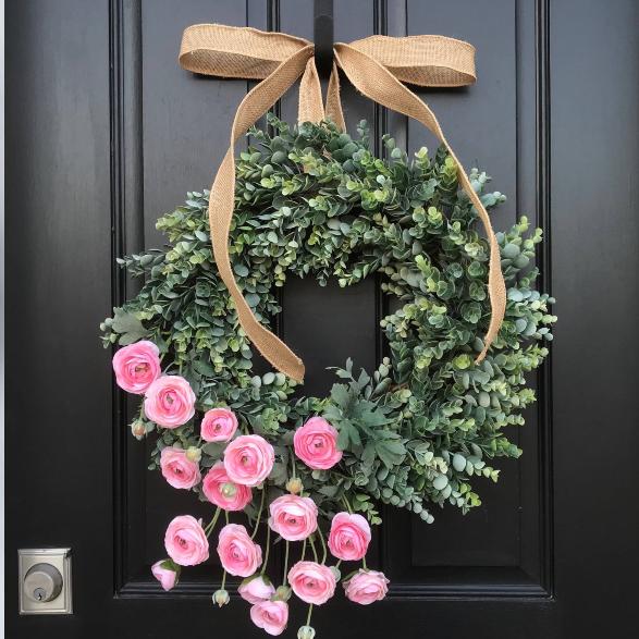 Easter Spring Door Decorations Ideas