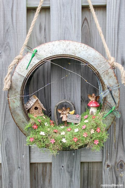 spring wreaths fairy garden