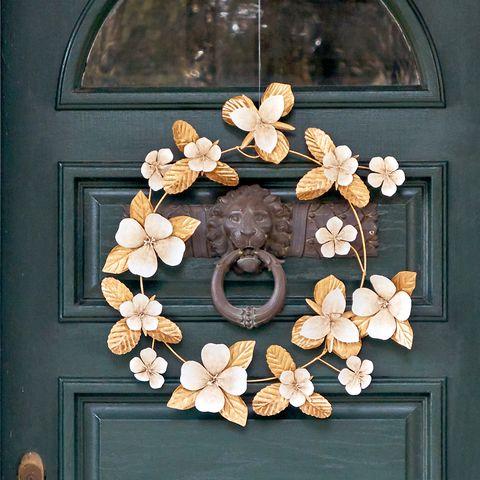 Spring Wreath - Gold Floral Wreath