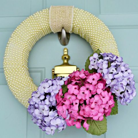 Spring Wreaths - Florals and Pearls Wreath