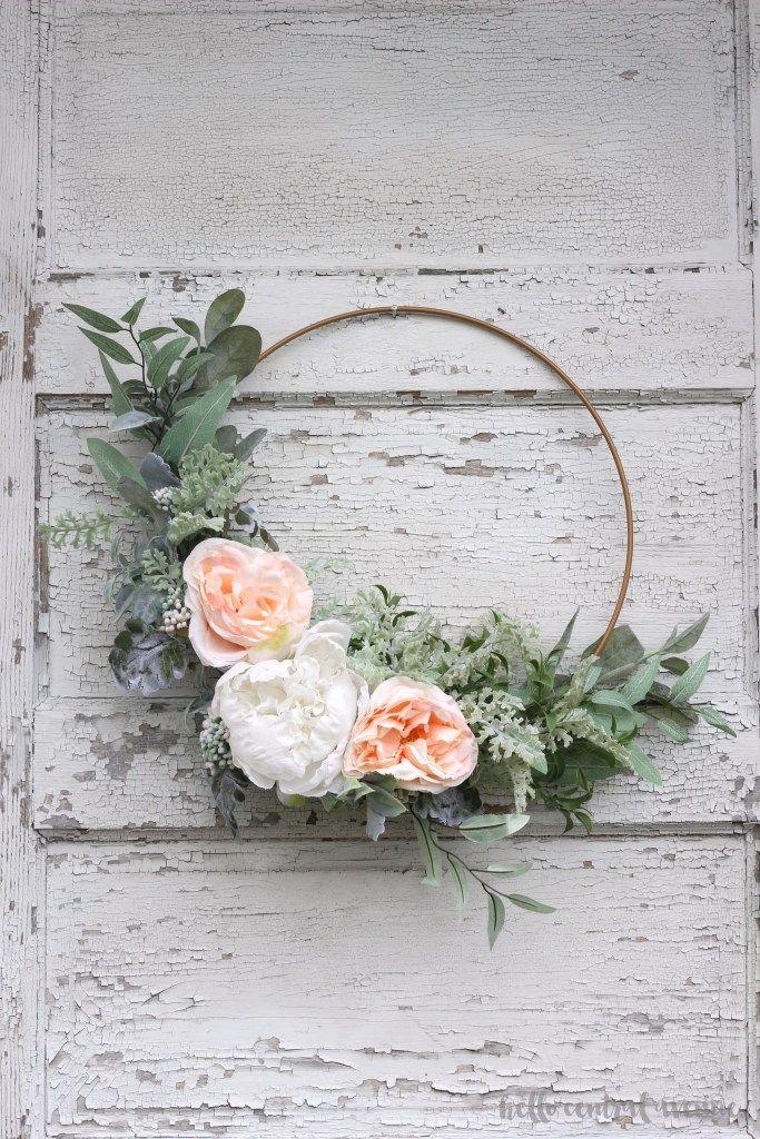 spring wreaths hoop