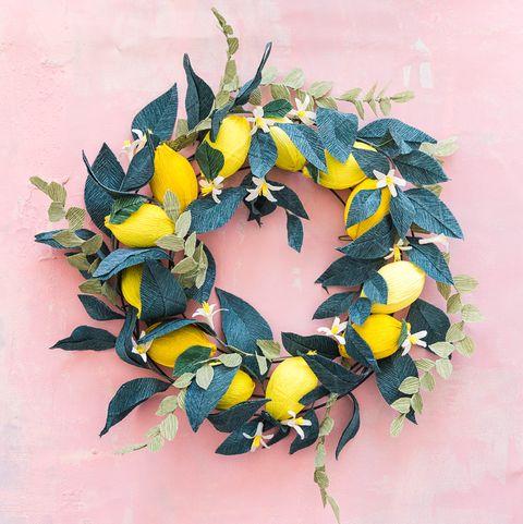 Spring Wreath - Paper Lemon Wreath
