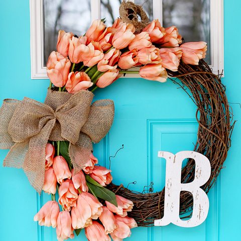 Spring Wreath - Personalized Tulip Wreath
