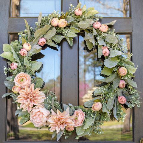 Spring Wreaths - Sage and Blush Wreath