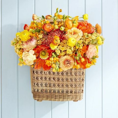 woven basket spring wreaths