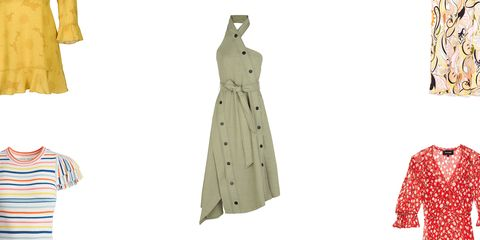 Clothing, Dress, Beige, Design, Polka dot, Pattern, Day dress, Formal wear,