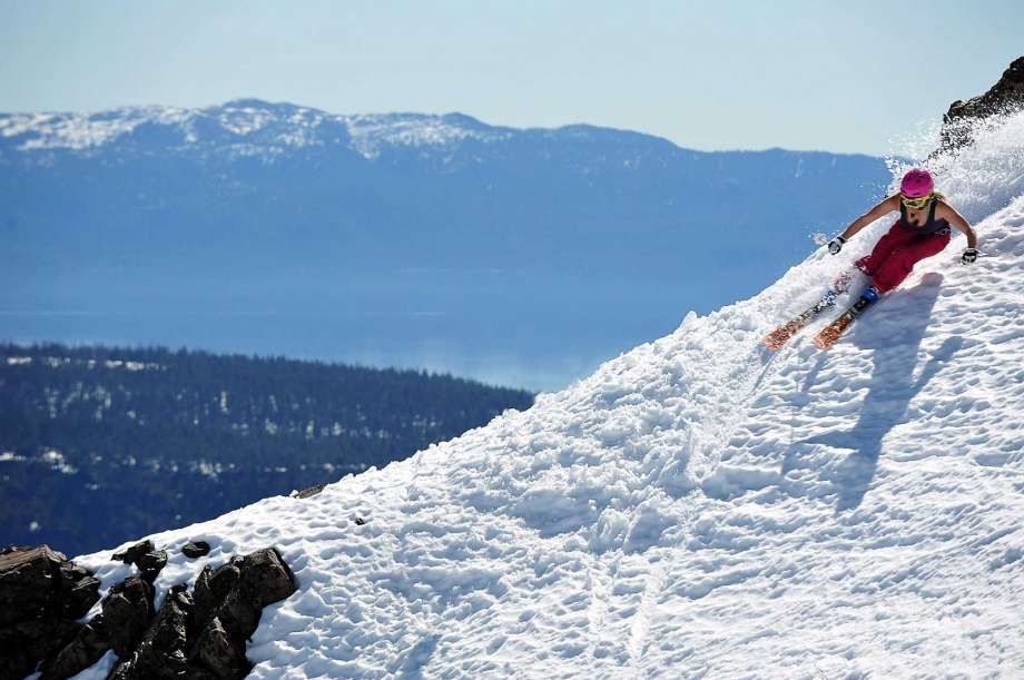 Spring skiing runs hot in Lake Tahoe.
