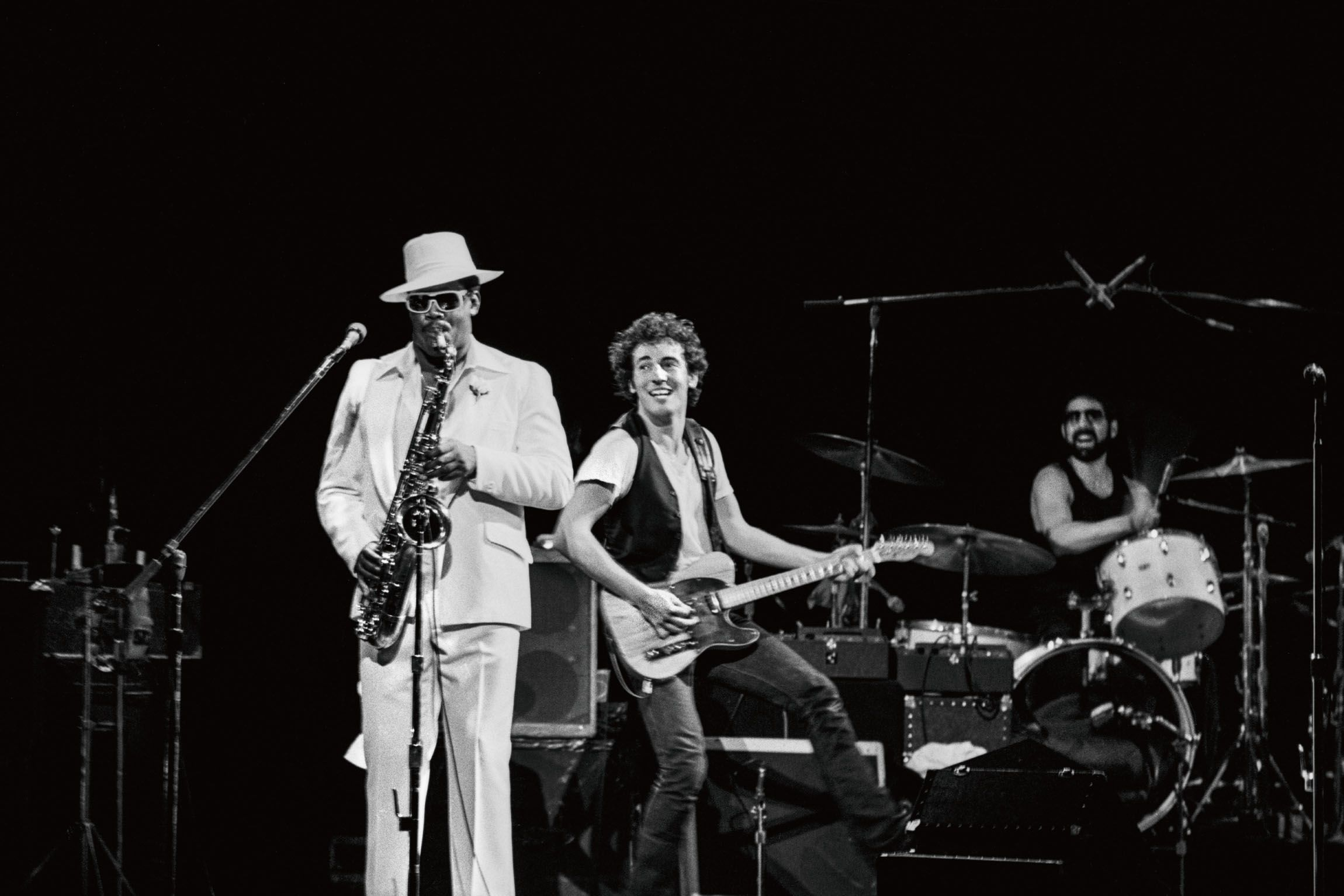 Bruce Springsteen performs at the Oakland Paramount in 1976.