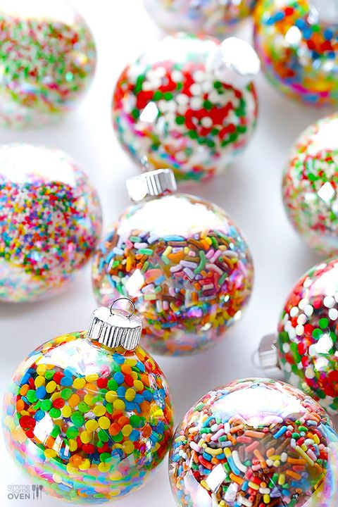sprinkle homemade christmas tree ornaments
