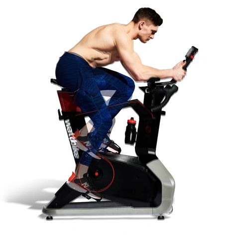 Exercise equipment, Exercise machine, Arm, Stationary bicycle, Sports equipment, Leg, Muscle, Exercise, Indoor cycling, Physical fitness,