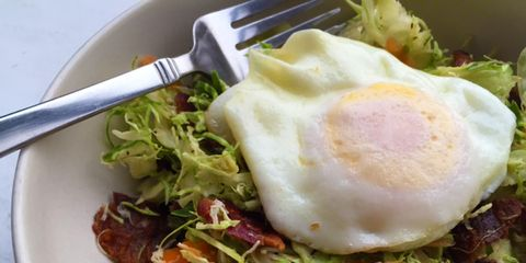 Bacon, Egg, and Brussels Sprout Slaw