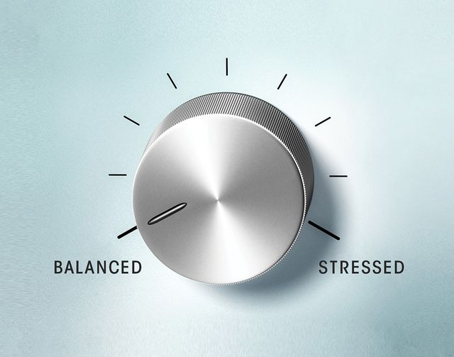 dial between balanced and stressed