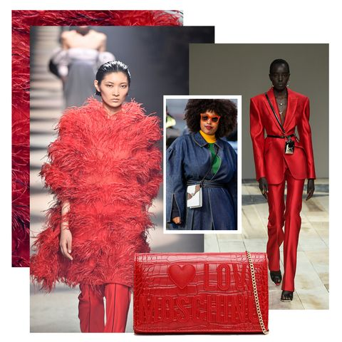 red outfits and accessories