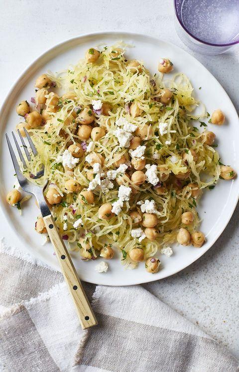 Heart Healthy Recipes - Vegetarian Meals Spaghetti Squash and Chickpea Sauté