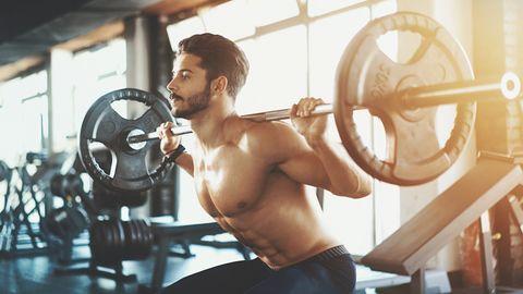 Squat workout.