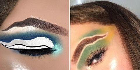 Eyebrow, Eyelash, Eye, Hair, Face, Eye shadow, Skin, Organ, Beauty, Cosmetics,
