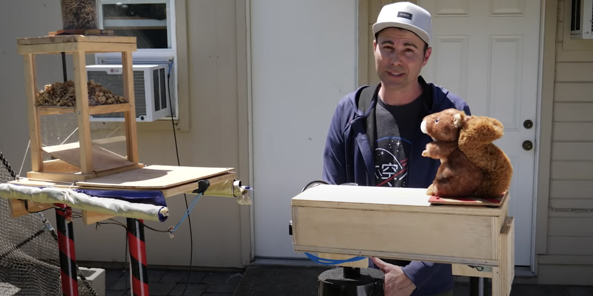This Former NASA Engineer Built an Epic Obstacle Course for Squirrels