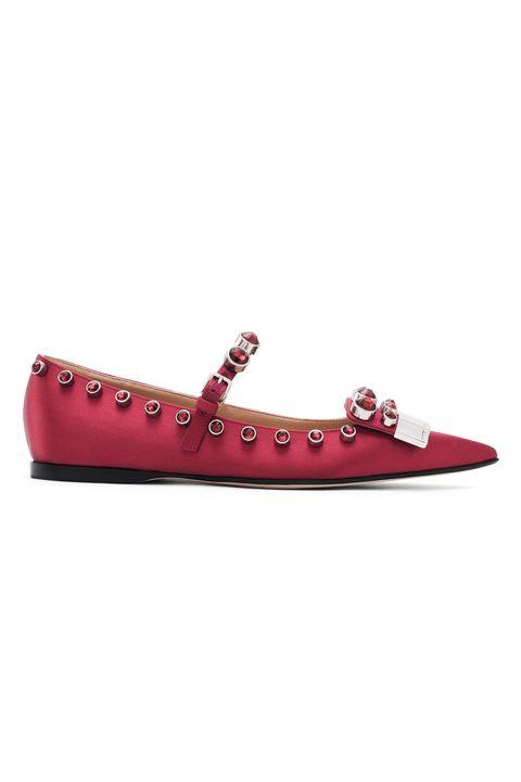 Footwear, Shoe, Maroon, Ballet flat, Sneakers, Magenta, Fashion accessory, Leather,