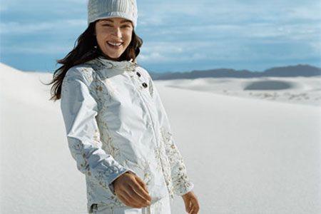 white snow clothing