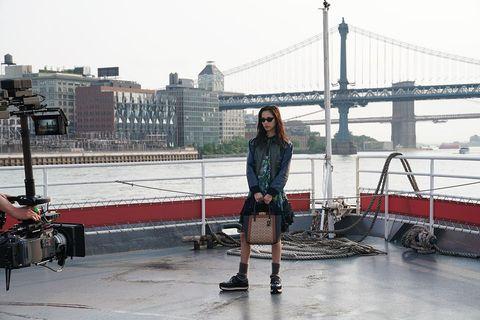 Snapshot, Fashion, Leg, Footwear, Photography, Outerwear, Architecture, Street fashion, Bridge, Tourism,