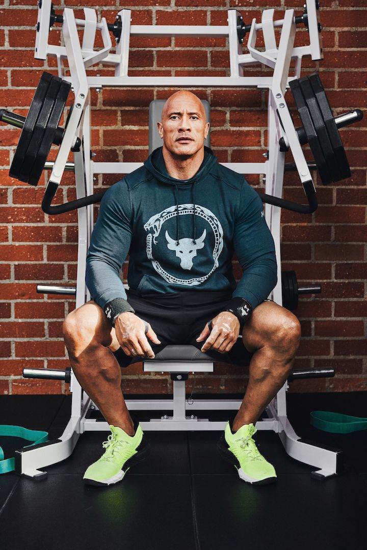 Watch The Rock Get a Solid Pump on an Incline Press Before a Photo Shoot