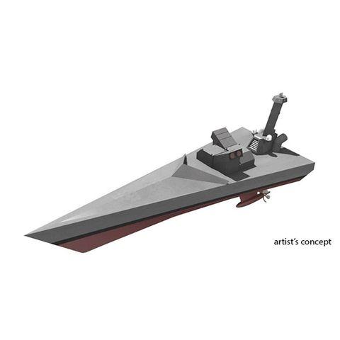 artist concept of drone ship