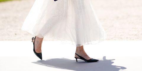 White, Clothing, Dress, Footwear, Street fashion, Fashion, Leg, Shoe, Wedding dress, Ankle,