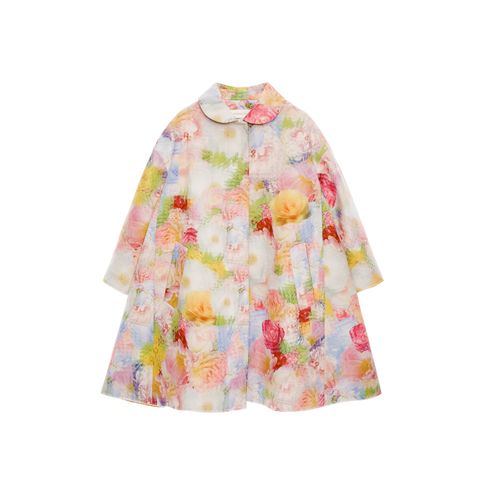 Clothing, Pink, Outerwear, Sleeve, Yellow, Peach, Blouse, Costume, Jacket, Dress,