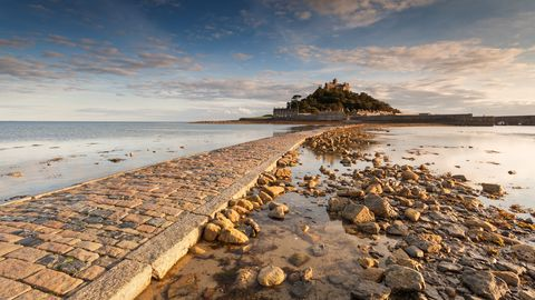 St Micheal's Mount a view from the causeway.