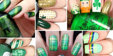 4e2facab 20 St. Patrick's Day Nail Designs - Best St. Patrick's Day Nail Ideas