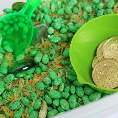 St. Patrick's Day Games - Sensory Bin
