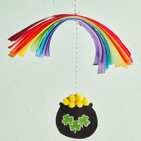 pot of gold hanging mobile
