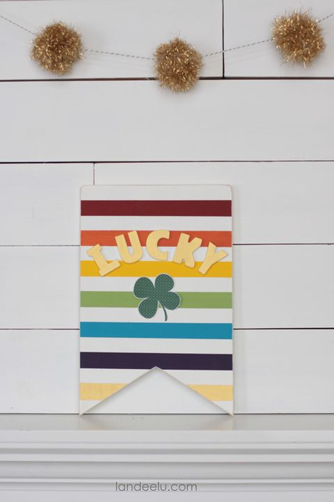 st patricks day crafts rainbow sign