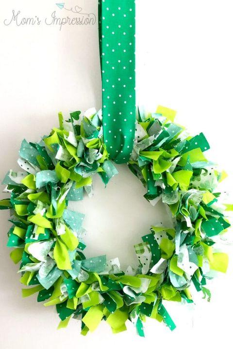 st patricks day crafts shamrock wreath