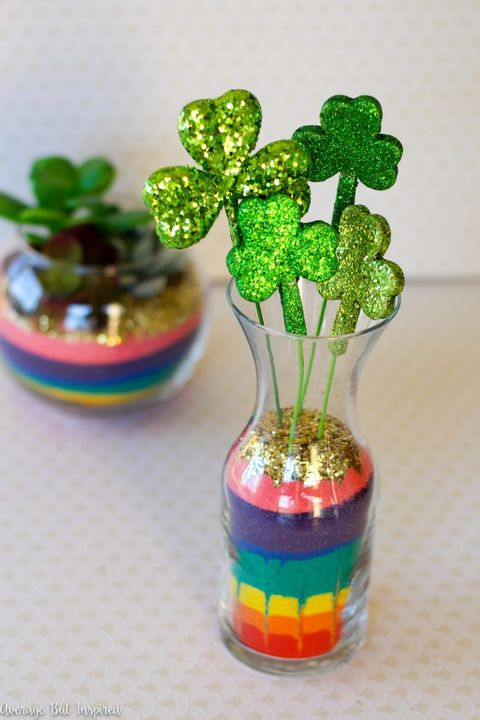 st patricks day decorations rainbow terrariums