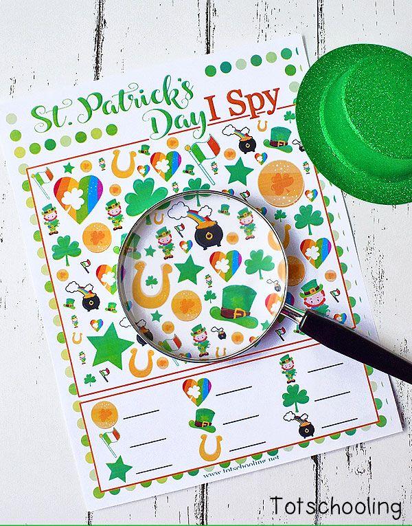st patricks day games i spy