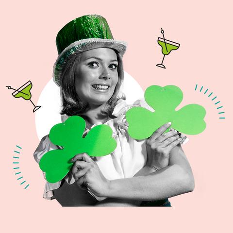 Green, Saint patrick's day, Illustration, Shamrock, Graphic design, Clover, Holiday, Symbol, Plant, Fictional character,