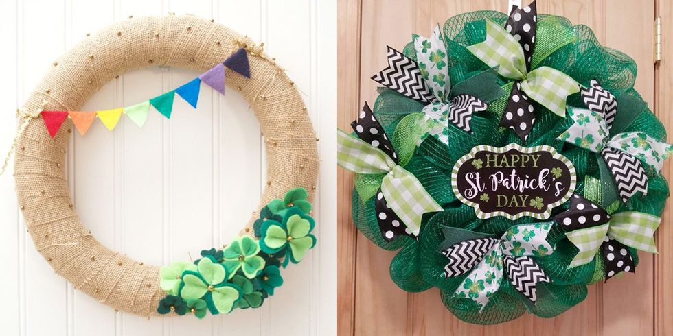 14 St. Patrick's Day Wreaths That'll Give Your Home Some Good Luck