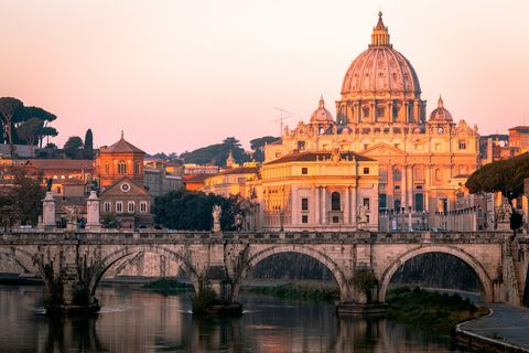st peter's basilica, the vatican, river tiber, rome, italy