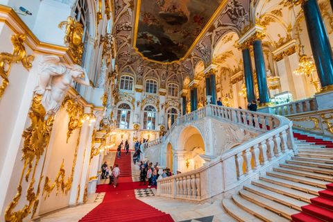 St Petersburg, Russia: Jordan Staircase, Winter Palace interior, Hermitage Museum complex