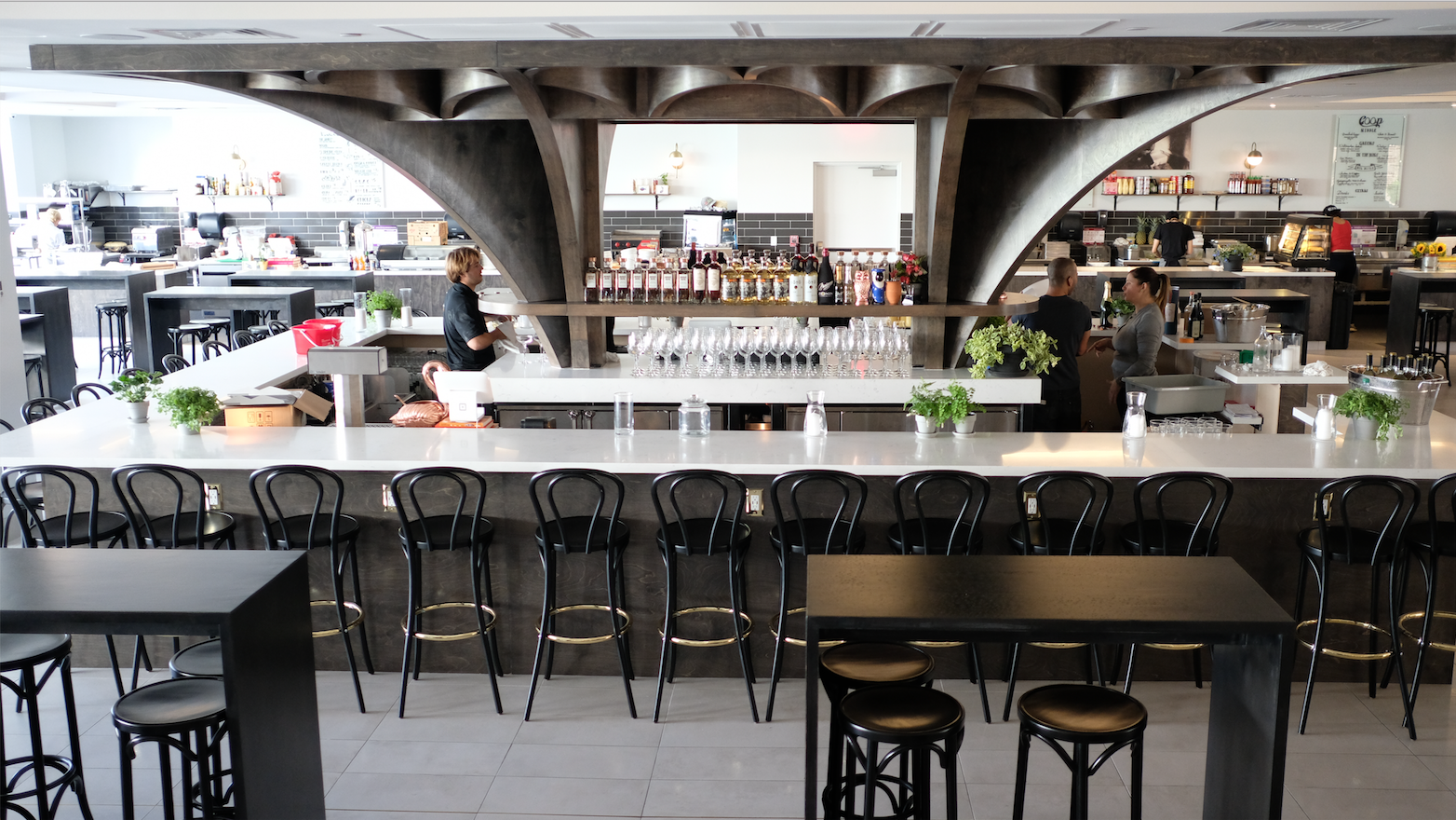 Where to Eat Lunch St. Roch Market Not your average food hall, St. Roch Market offers diverse options from 12 different 'chef concepts' that range from vegan butternut nachos to Peruvian-style ceviches.