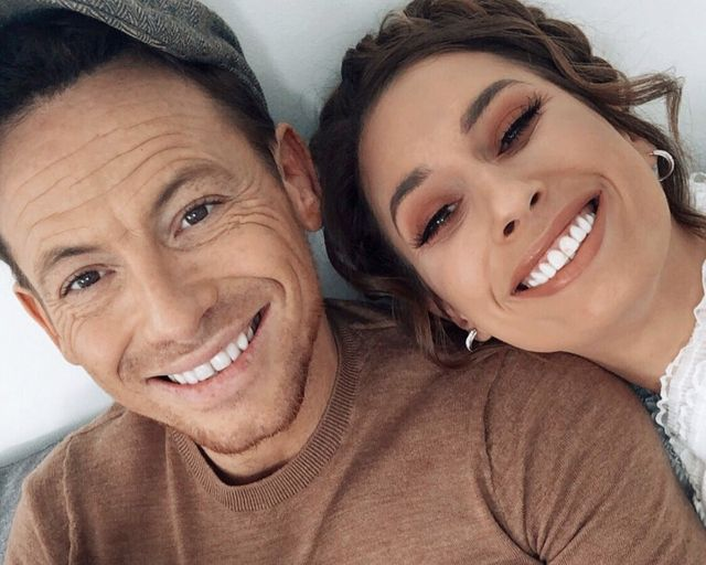 stacey solomon and partner joe swash in an instagram picture