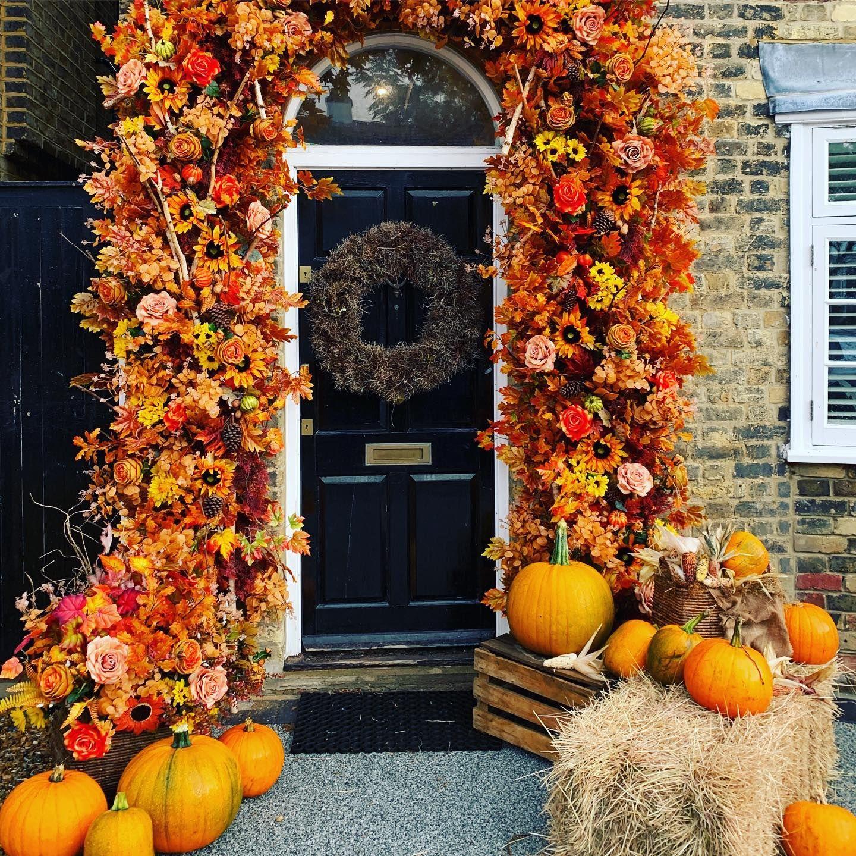 Stacey Solomon's front door display is the perfect autumnal update